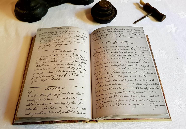 A facsimile copy of The Knight Family Cookbook