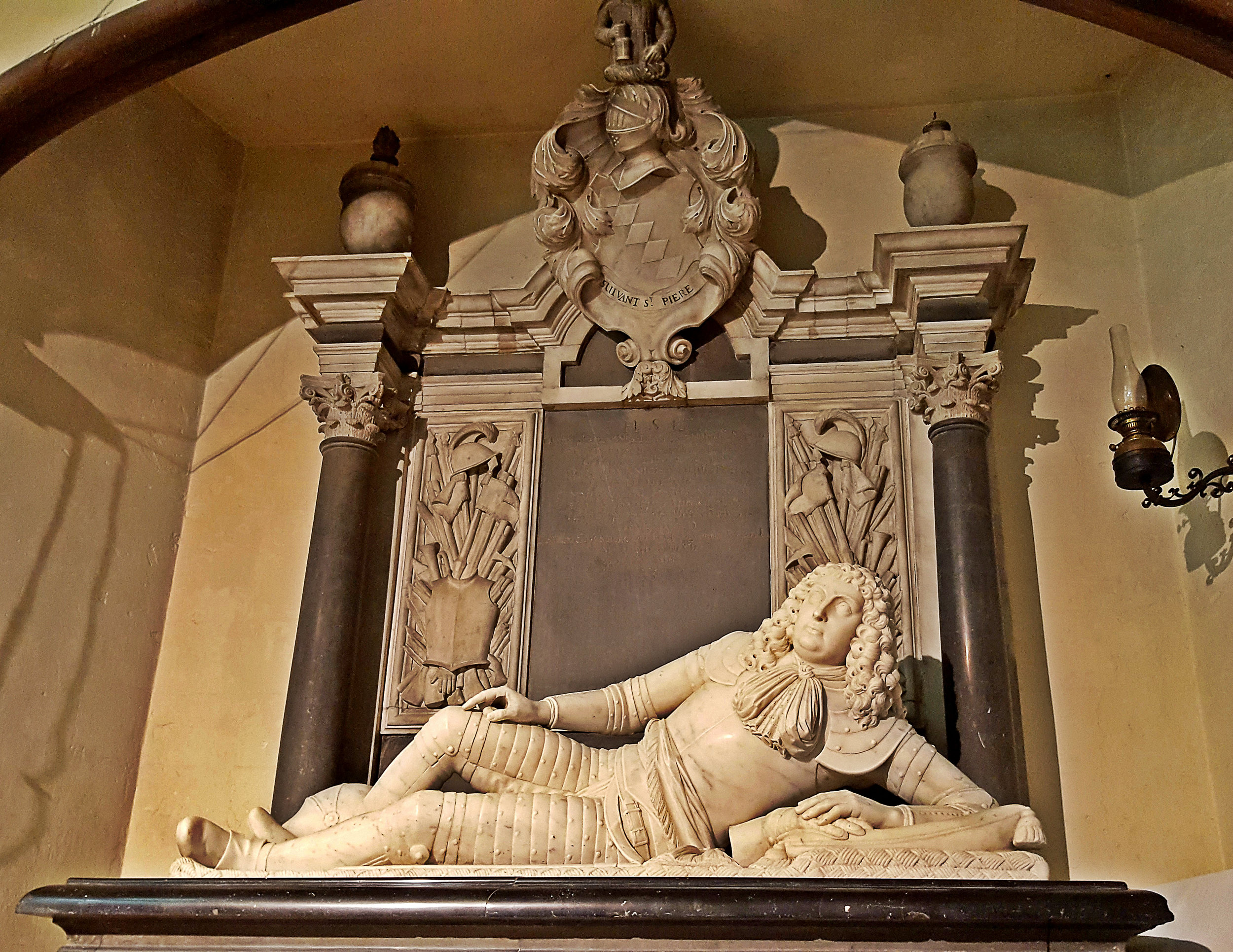 Sir Richard Knight (1639 - 1679) reclines in Chawton Church