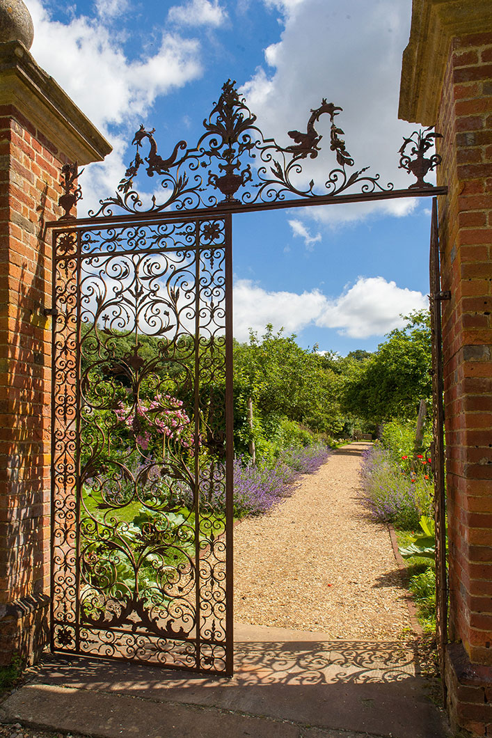 The gates to the 'secret' walled garden (photo courtesy of chawtonhouse.org)