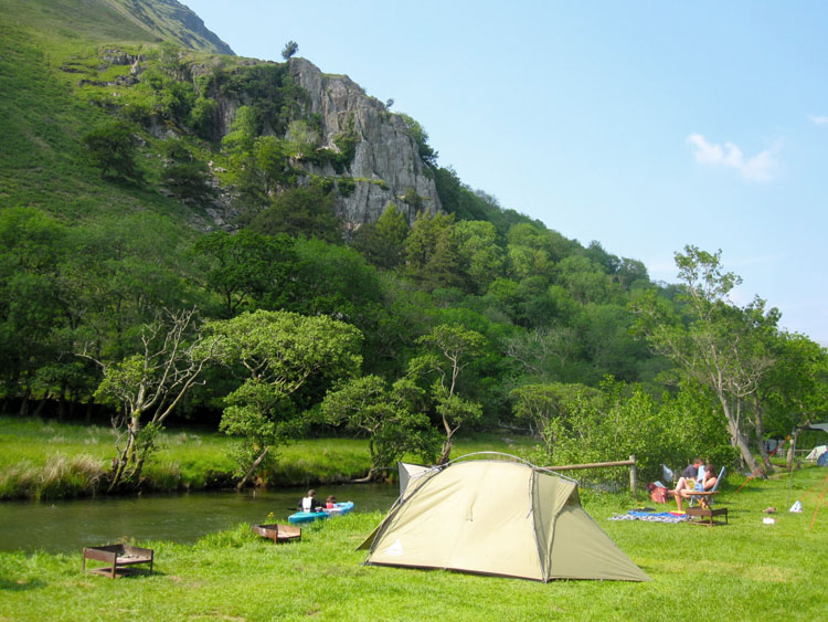 Camping at the foot of Mt Snowdon (photo courtesy of Gwynant.com)