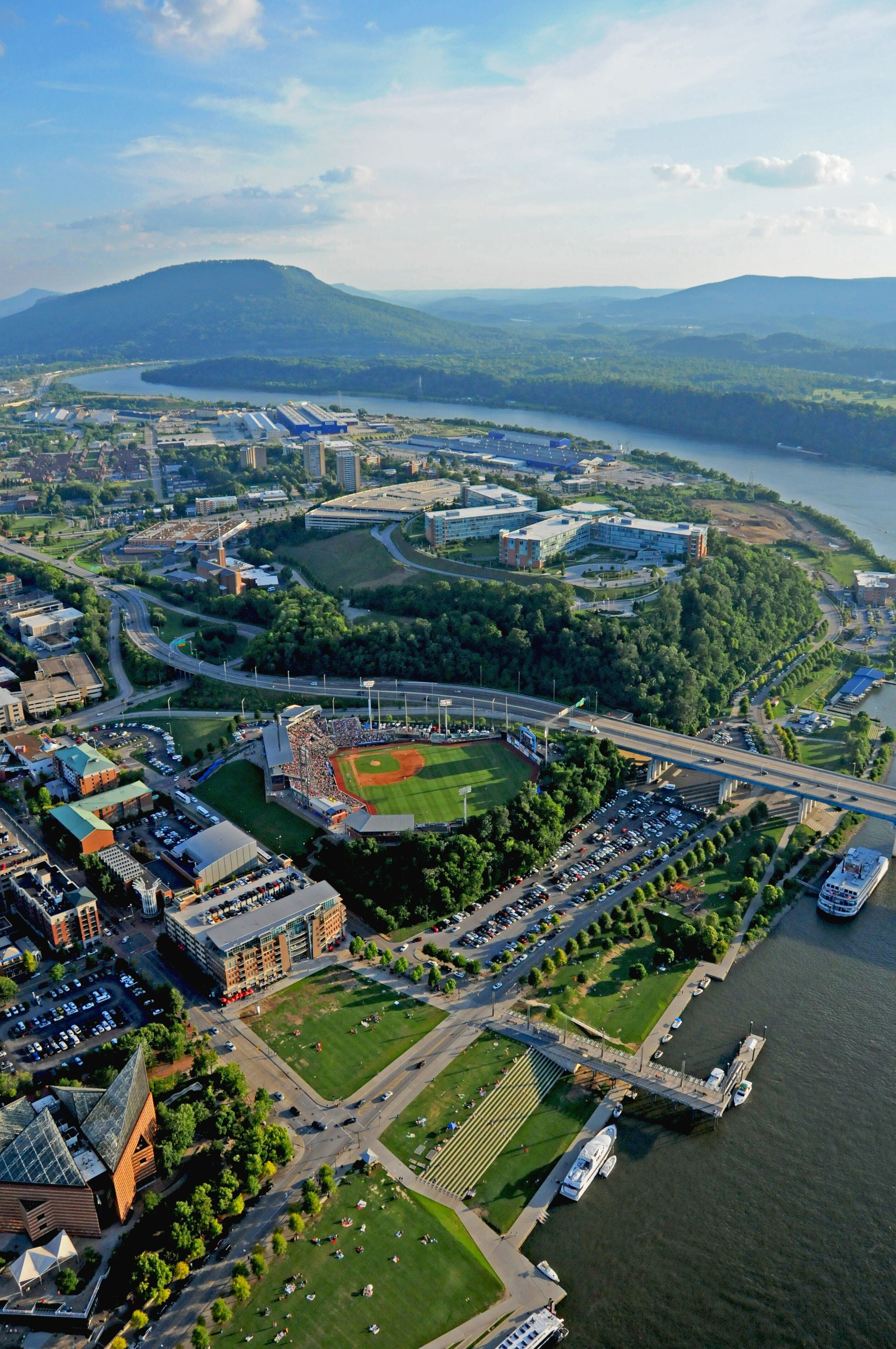 Chattanooga Lookouts Stadium and Lookout Mountain