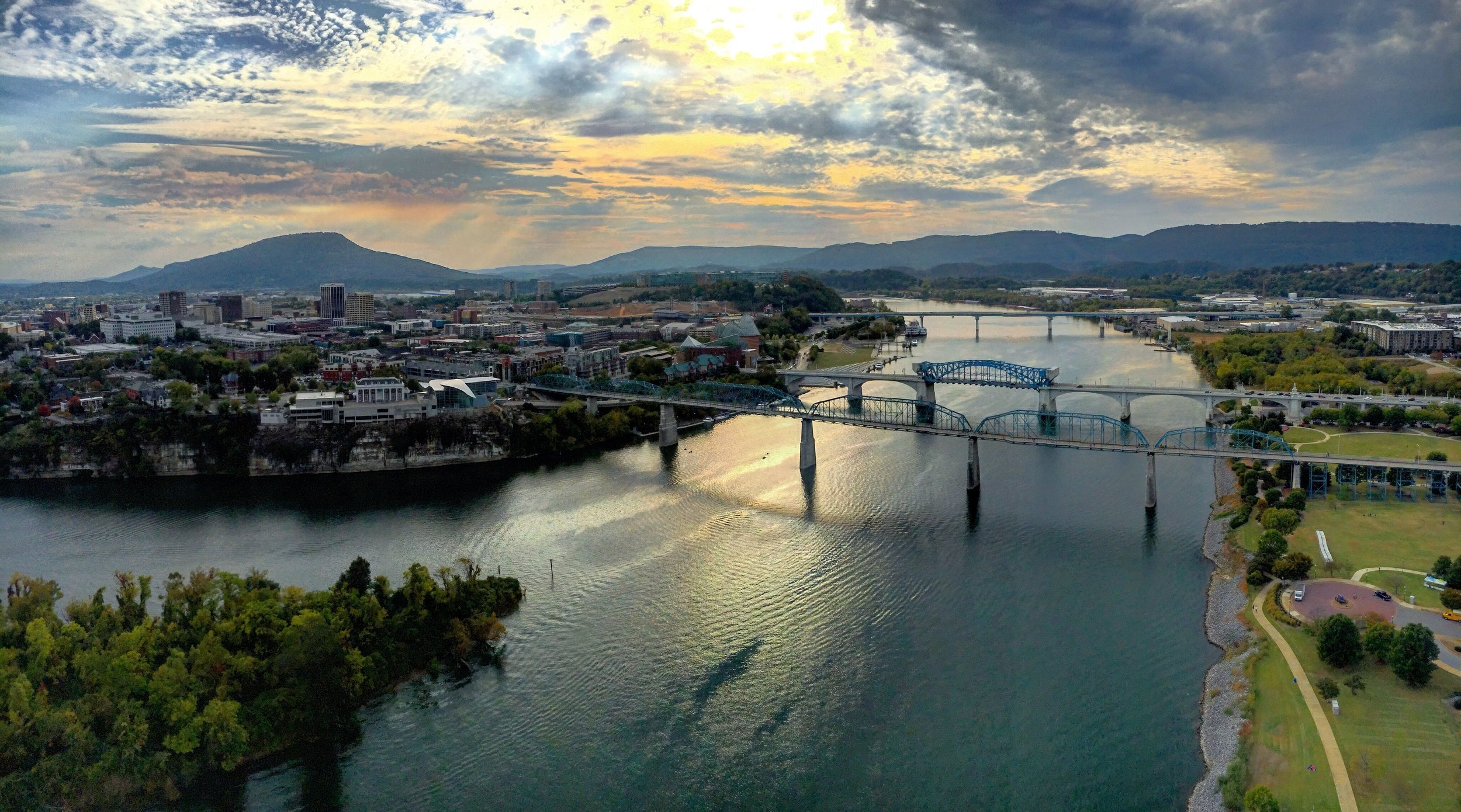Gorgeous view of downtown Chattanooga