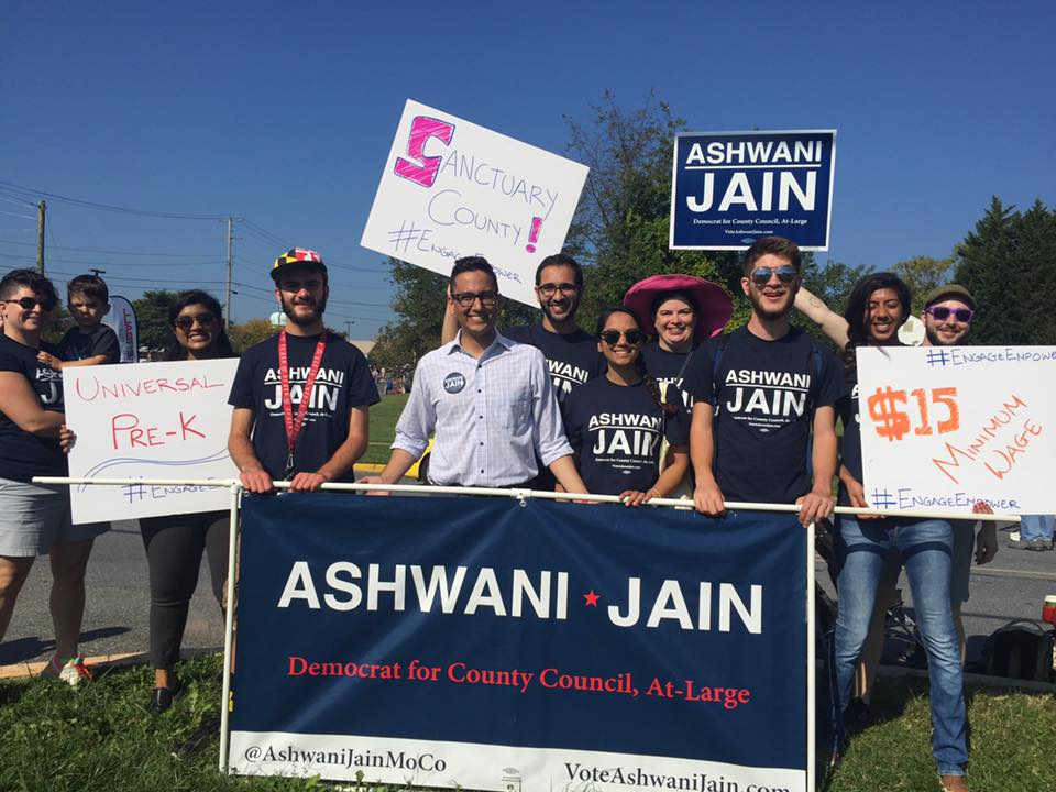 Ashwani marches at the Poolesville Day Parade
