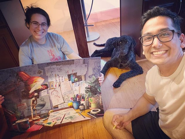 Accomplishment for the weekend - a 1k piece @pixar puzzle. #GoogleTheDoodle ate a piece (& doesn't even care) 🥺