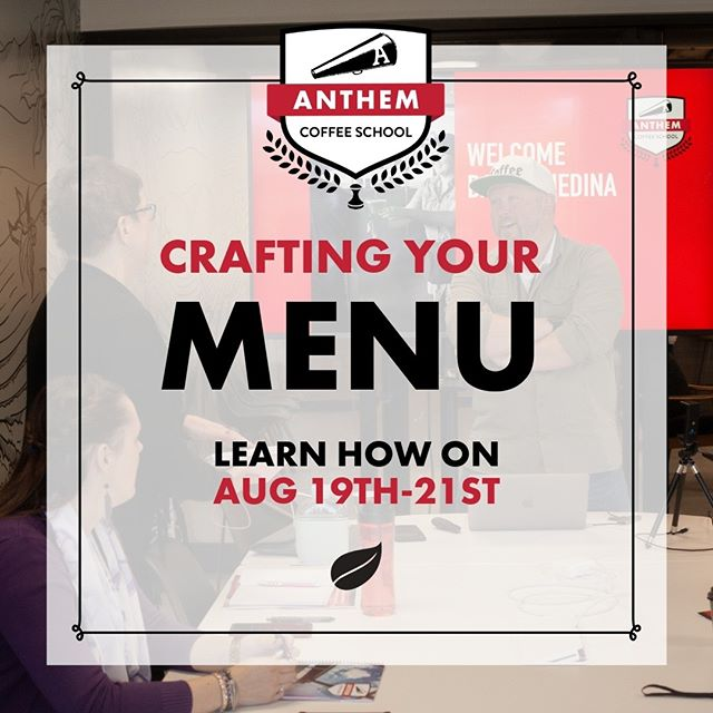 Let's get creative! Build a new menu to attract your customers at Anthem Coffee School. (LINK IN BIO!) #coffeeschool #anthem #tacoma #anthemcoffeeschool #barista #learn #business #network #community #share #goal #menu #build