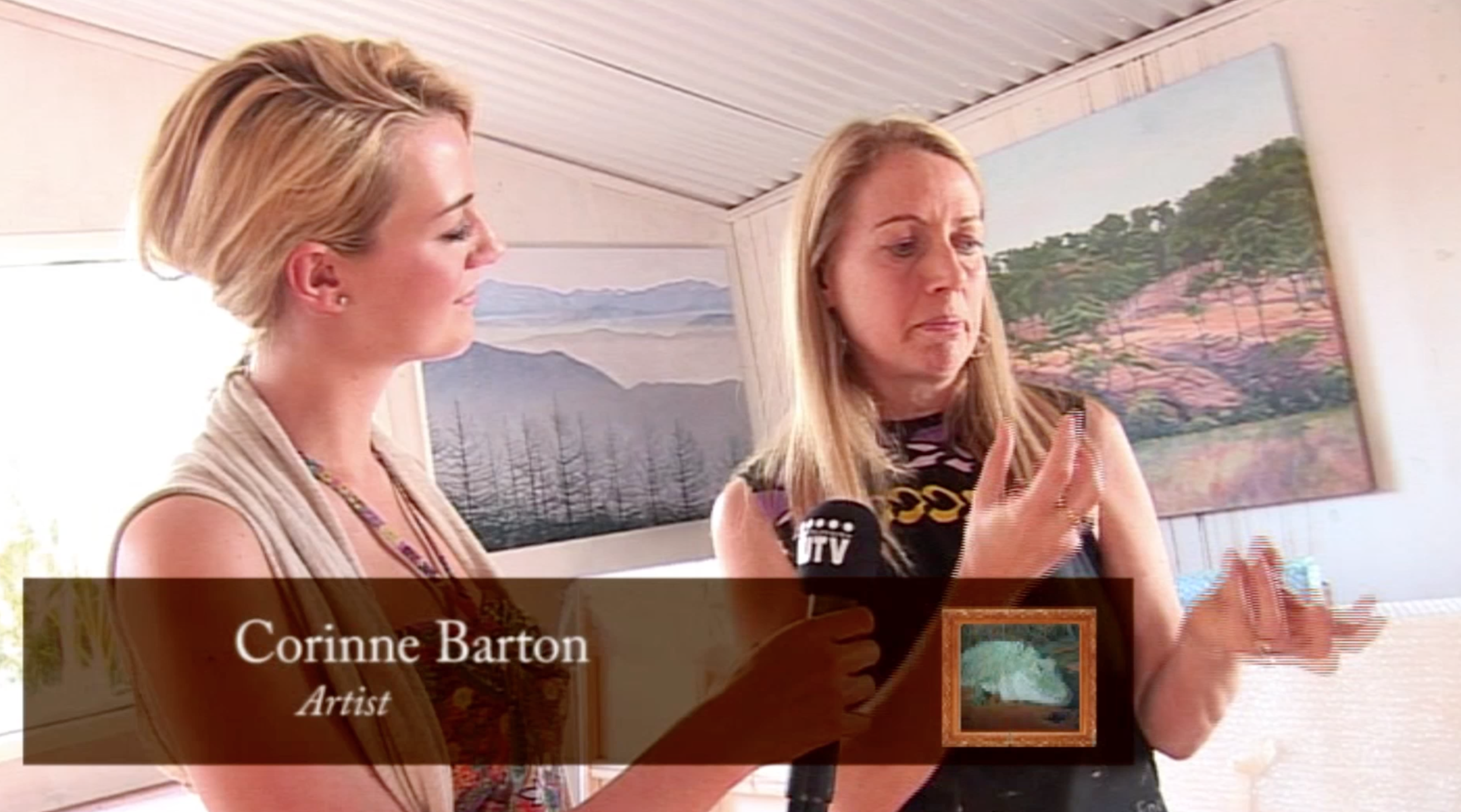 An Interview with corinne barton - See Corinne's Full Interview on TV series Gallery Watch