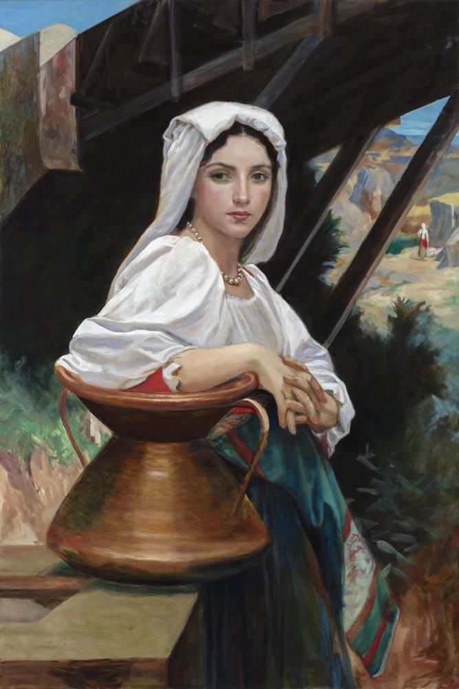 Italian Girl With Water Jug After Bouguereau 120x80cm.jpg