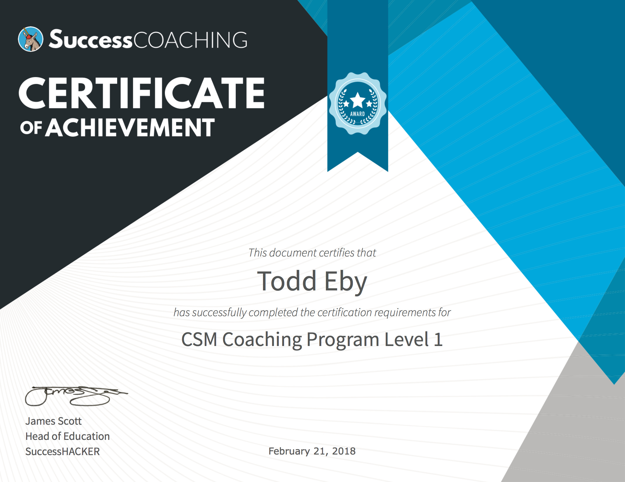 Certifications that go to work for you. - Click on the sample certificate to see a live example of how you can put your best foot forward today.