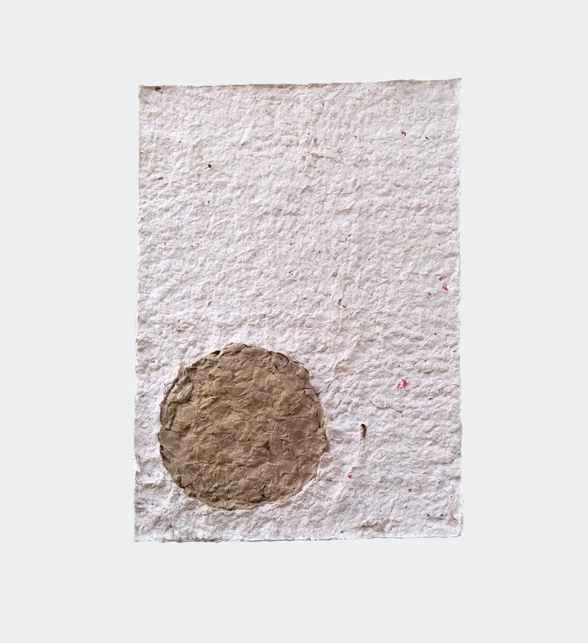 Paul Handley  / Southern Hemisphere, 2019 / McDonald's fries packaging and brown bag / 21 cm x 30 cm