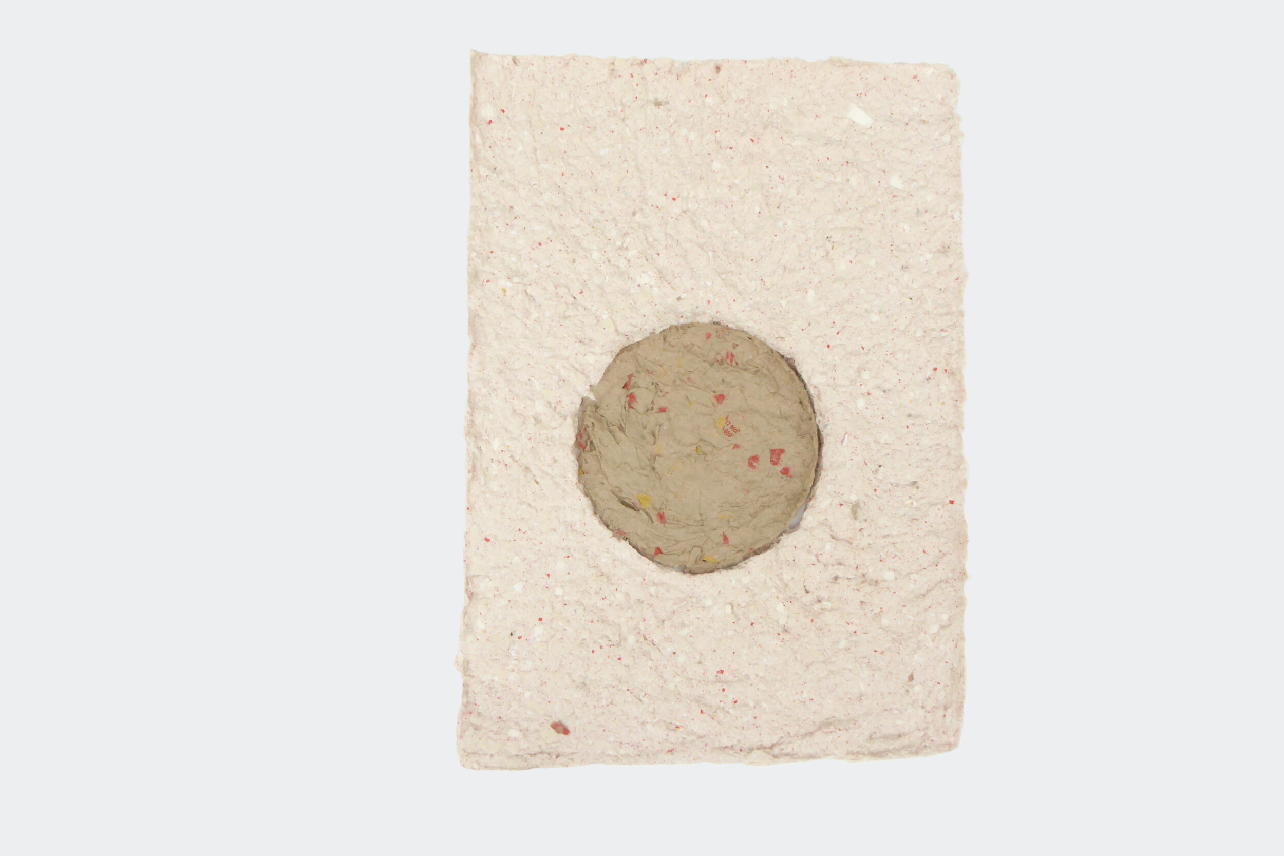 Paul Handley  / Southern Hemisphere #2, 2019 / McDonald's fries packaging and brown bag / 21 cm x 30 cm