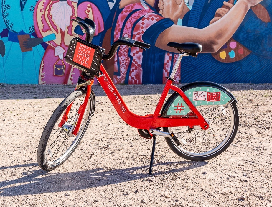 """Why I Love Where I Live """"Love Tucson"""" bike by  Saywells Design"""