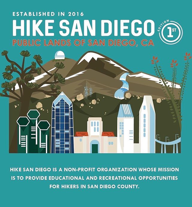 Three years ago today, we were founded with the purpose to inspire and educate hikers about the diversity of San Diego's hiking opportunities. From the coastal views with rare Torrey Pines, to the granite rock-strewn hills of Poway and Ramona, through the forested valleys of Palomar Mountain, and in the desert with blazing red-orange ocotillos, San Diego truly has it all. Throughout the past 36 months, we've received emails and messages asking which trails to hike. We've curated a list of our favorite hikes to share with you, including dog-friendly trails! This list is not meant to be exhaustive, but this first edition truly highlights the diversity of San Diego. Please use this list with the many resources available to you as hikers (such as, Afoot & Afield San Diego County, and the Coast to Cactus Canyoneer trail guide). This list is now available for free on our website for you to download, print, and use! We will also have copies available at all of our future events!  To celebrate our birthday, the launch of this list, and the first day of Autumn, we are hosting a giveaway! Five winners will win a limited edition poster of the hiking list. Two winners will receive a Nalgene water bottle and a Hike San Diego patch and sticker. To enter, the rules are simple: Follow us and tag three people you'd like to do one of these hikes with in the comments below. The giveaway ends on 9/29/19 at 11:59 pm. We will announce the winners on 9/30.  Thank you for being part of our journey so far. We look forward to seeing you on the trail! Happy hiking! #hikesandiego #hikesd
