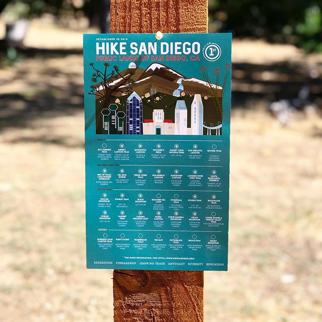 Have you seen our new list of recommended hikes that we curated for you? We have been so thrilled by all of your lovely comments and messages! There's still time to enter our giveaway! We'll be giving away these limited edition posters to five lucky hikers, plus two more people will receive a Nalgene bottle and a Hike San Diego sticker and patch. Please visit our post from Monday to enter! #hikesandiego #hikesd