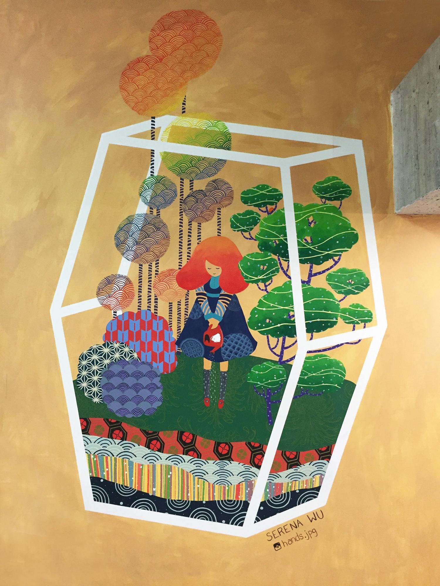 Home Sweet Home - Mural for Brooklyn Boulders Queensbridge (2016)