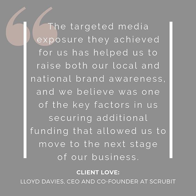 "Client love ❤️ ""We'd never considered PR before, but when a mentor recommended The Network Au we met with Kristy and her team and haven't looked back."" ⠀ We worked with Lloyd and his team at Scrubit to secure both Hunter-region, national and specialised media coverage. We also helped Lloyd's team out with professional photography. Head to our website to read more and have a look at our portfolio - we'd love to help you achieve what business dreams are made of⠀ *⠀ *⠀ *⠀ *⠀ *⠀ #clientlove #womeninbiz #bossbabes #girlbosses #workfromhome #workgoals #sydneybusiness #queenstownbusiness #newcastlebusiness #queenstown #newcastlensw #digitalmarketing #squarespace #squarespacewebsite #squarespacedesign #publicrelations #creativewriting #newcastlecommunity #creativelife #squarespacedesigner #femaleentrepreneur #womeninbiz #bossbabes #girlbosses #workspace #workfromhome #officeinspo #deskinspo"