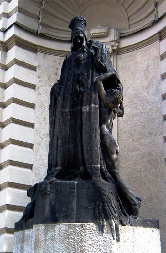 Statue of Rabbi Judah Loew in Prague. Wikipedia.