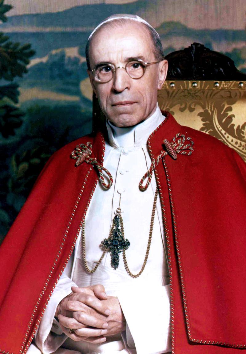 Pope Pius XII. Photo credit: Wikipedia