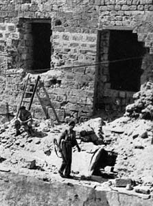 Acco prison wall after the jail break. Photo source: Jewish Virtual Library