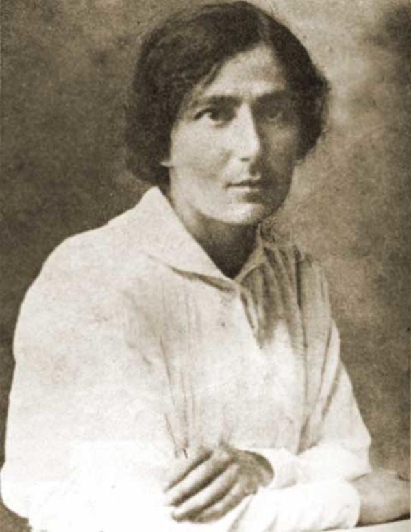 Rachel Bluwstein (the Poetess). Photo source: Jewish Women's Archive