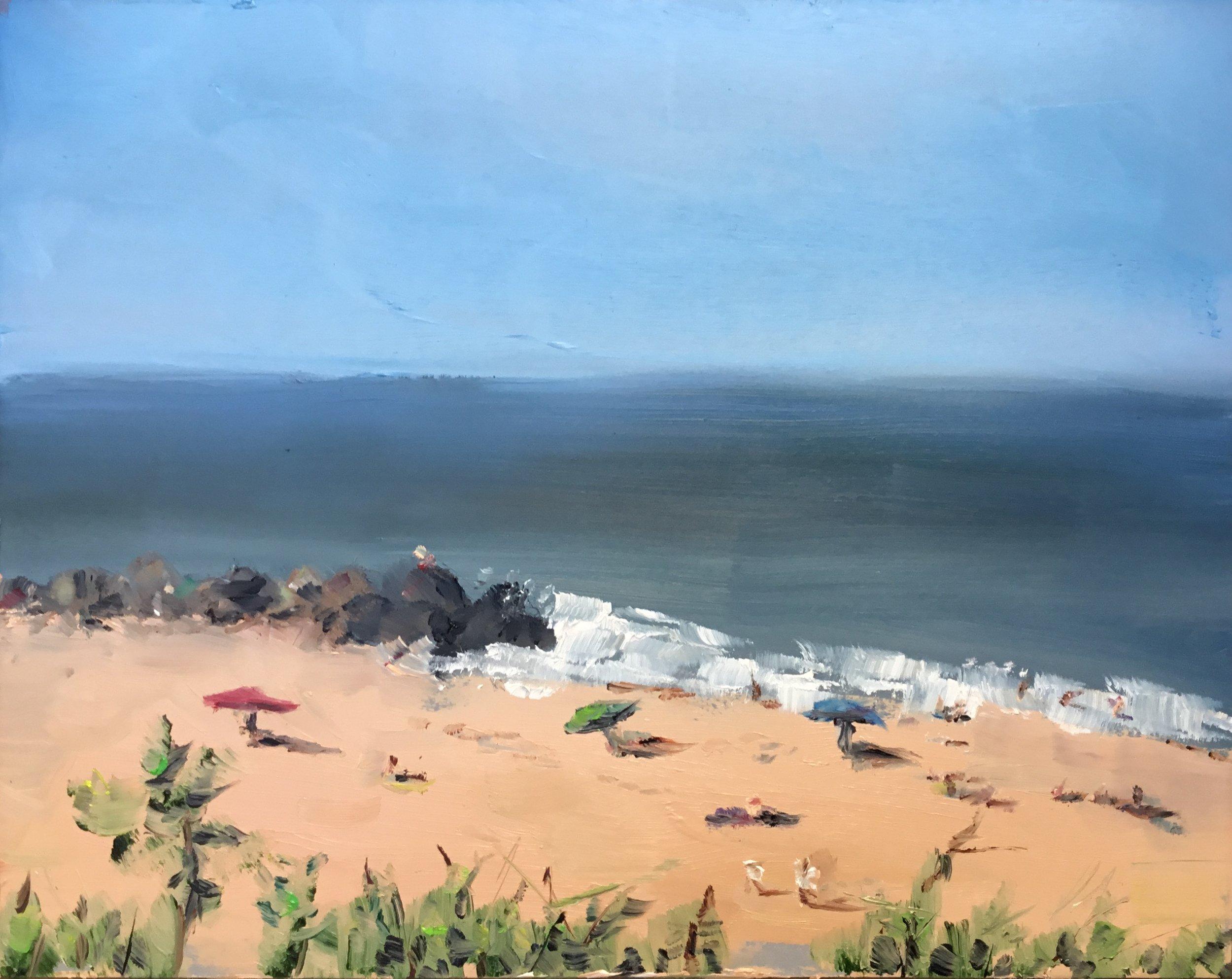 "Geoff Watson, ""Herring Point,"" oil on panel, 8"" x 10,"" 2017."