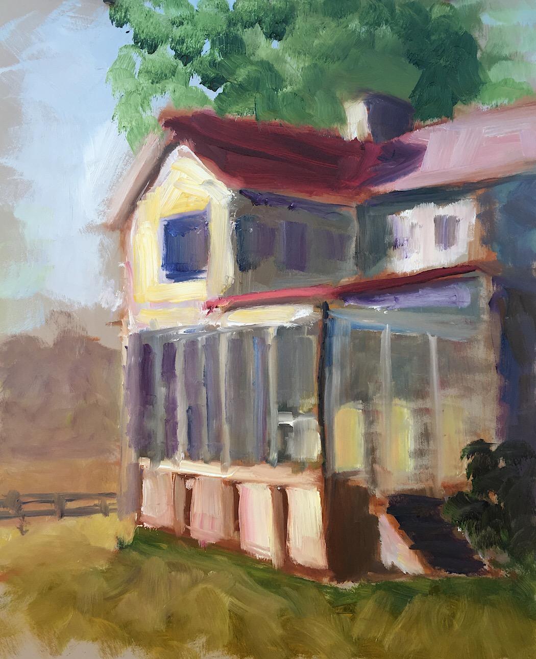"Geoff Watson, ""Thanksgiving at the farm,"" oil on panel, 11"" x 14,"" 2017."