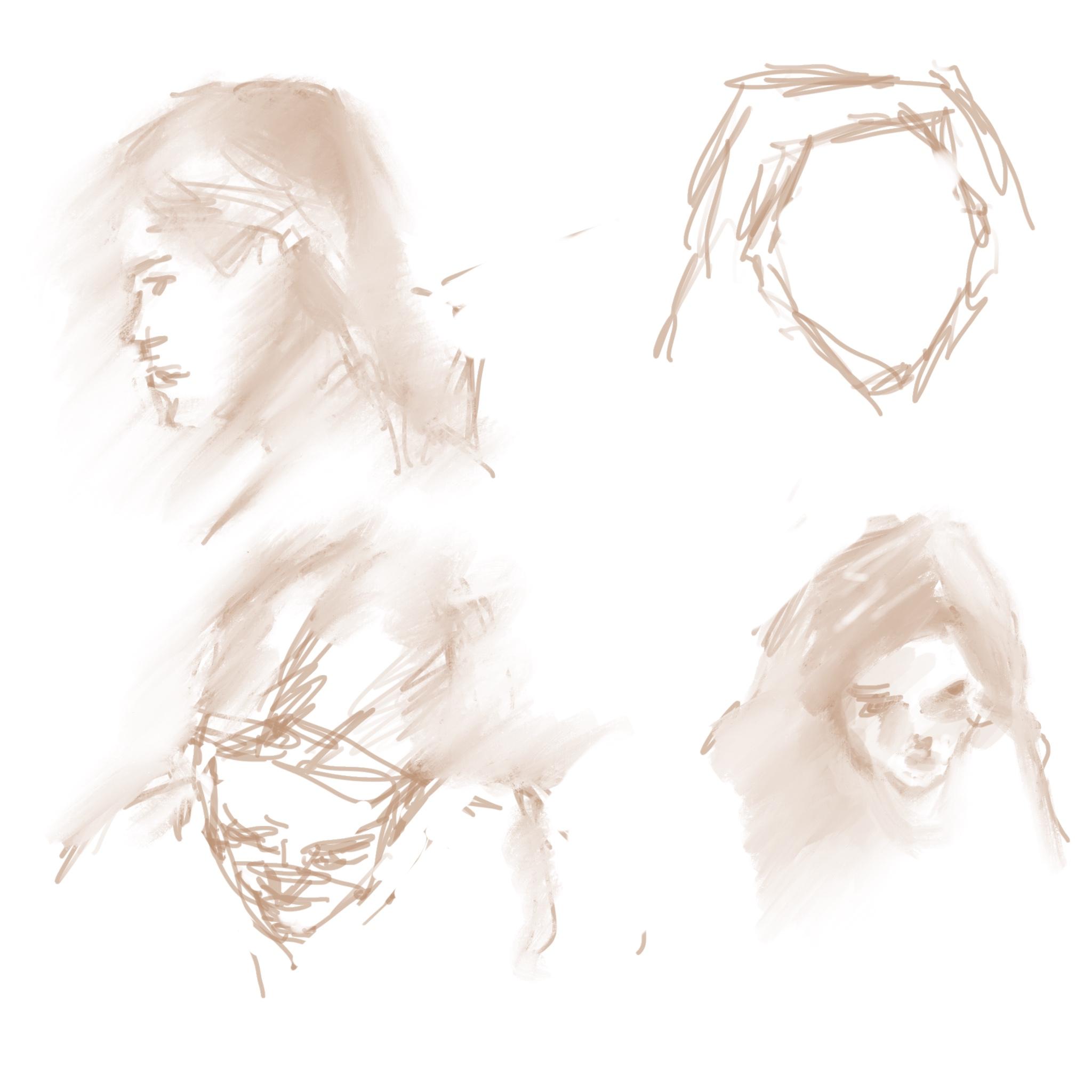 """Geoff Watson, """"iPad doodles,"""" iPad, 2018."""