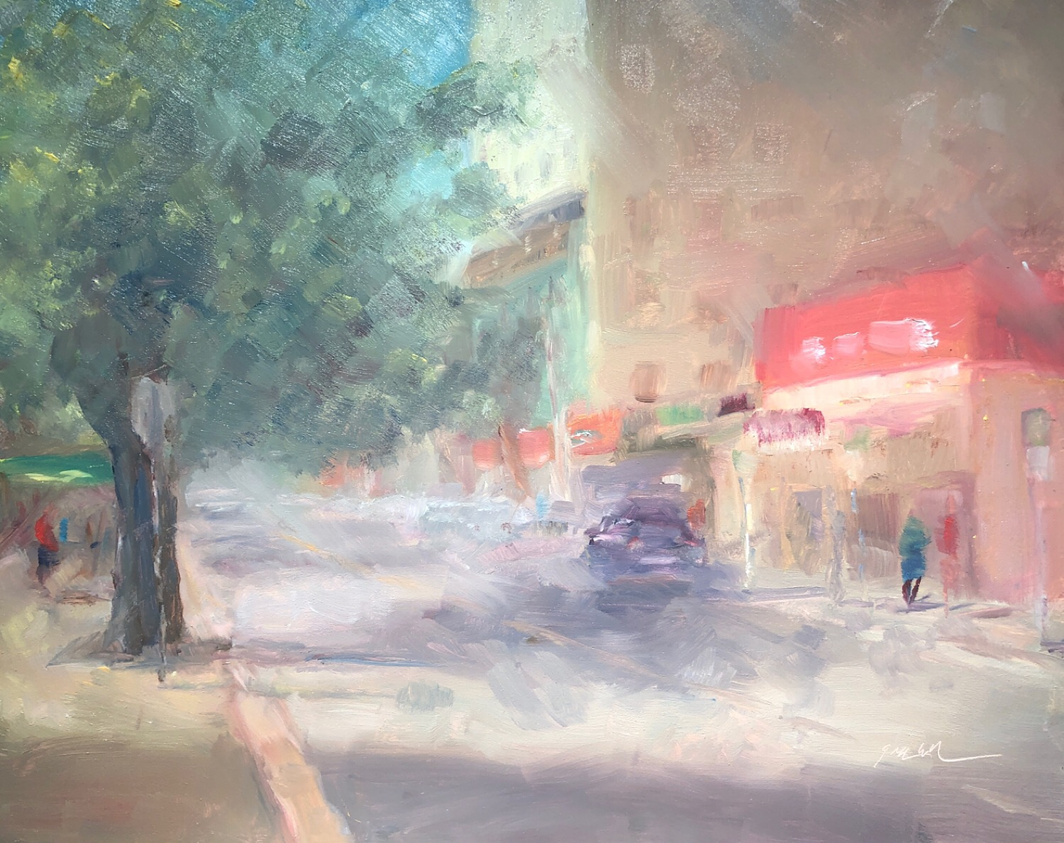 "Geoff Watson, ""Cordell Avenue (study),"" May daily painting #28, oil on panel, 8"" x 10,"" 2019."