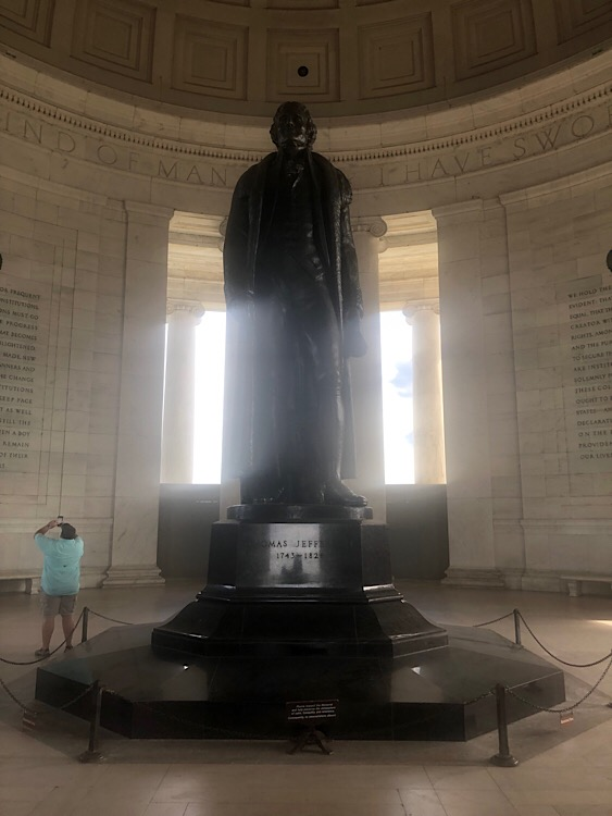 Geoff Watson, Photo of the Statute of Thomas Jefferson, June 12, 2019.