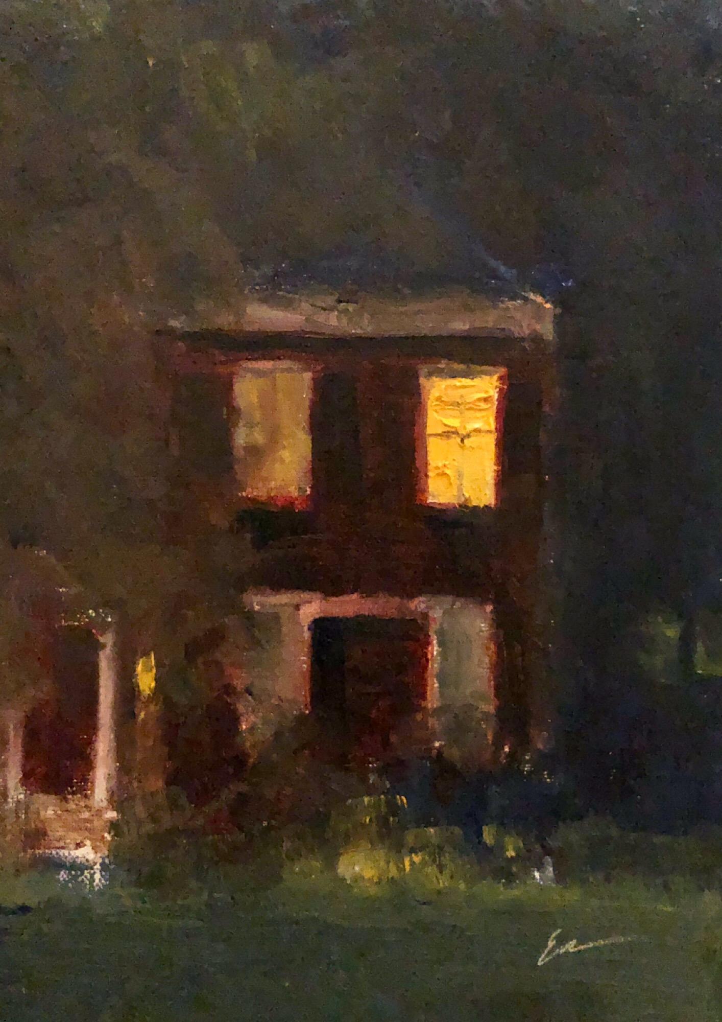 """Geoff Watson, """"Nocturne,"""" oil on linen, 5"""" x 7,"""" 2019."""