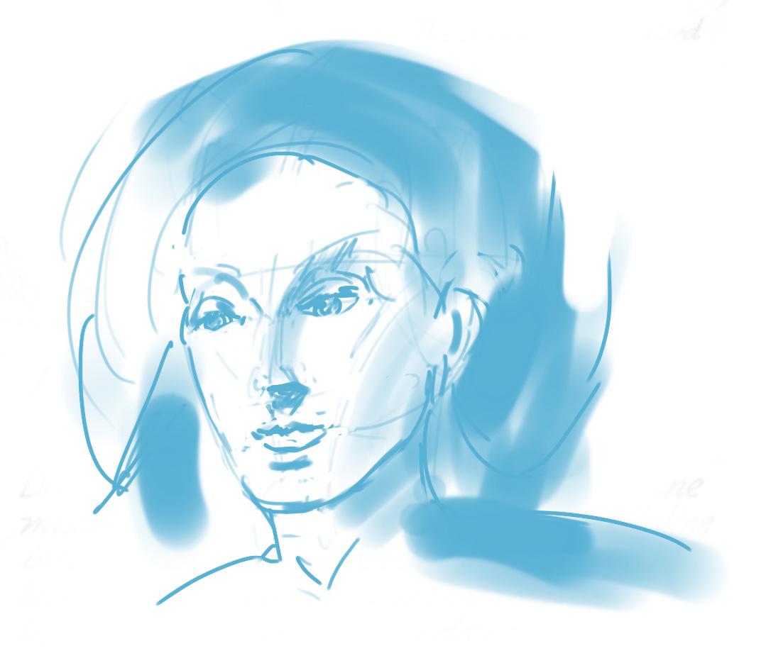 "Geoff Watson, ""Sketch from imagination,"" iPad, 2019."
