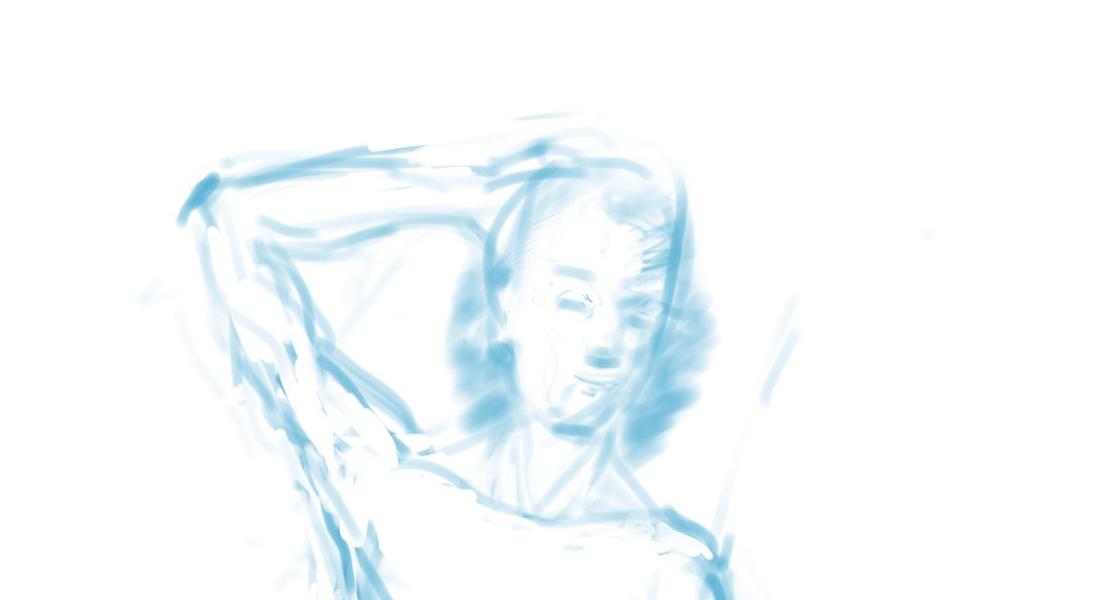 "Geoff Watson, ""Drawing from imagination (detail),"" in progress, iPad, 2019."