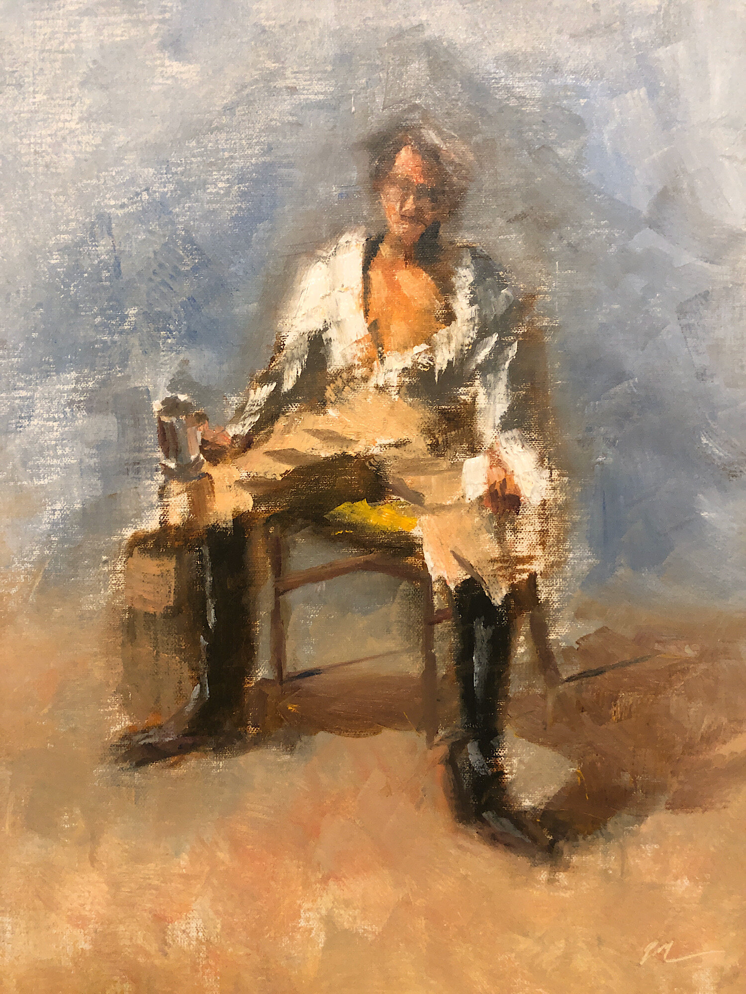 "Geoff Watson, ""Drunken sailor,"" oil on linen panel, 11"" x 14,"" 2019."