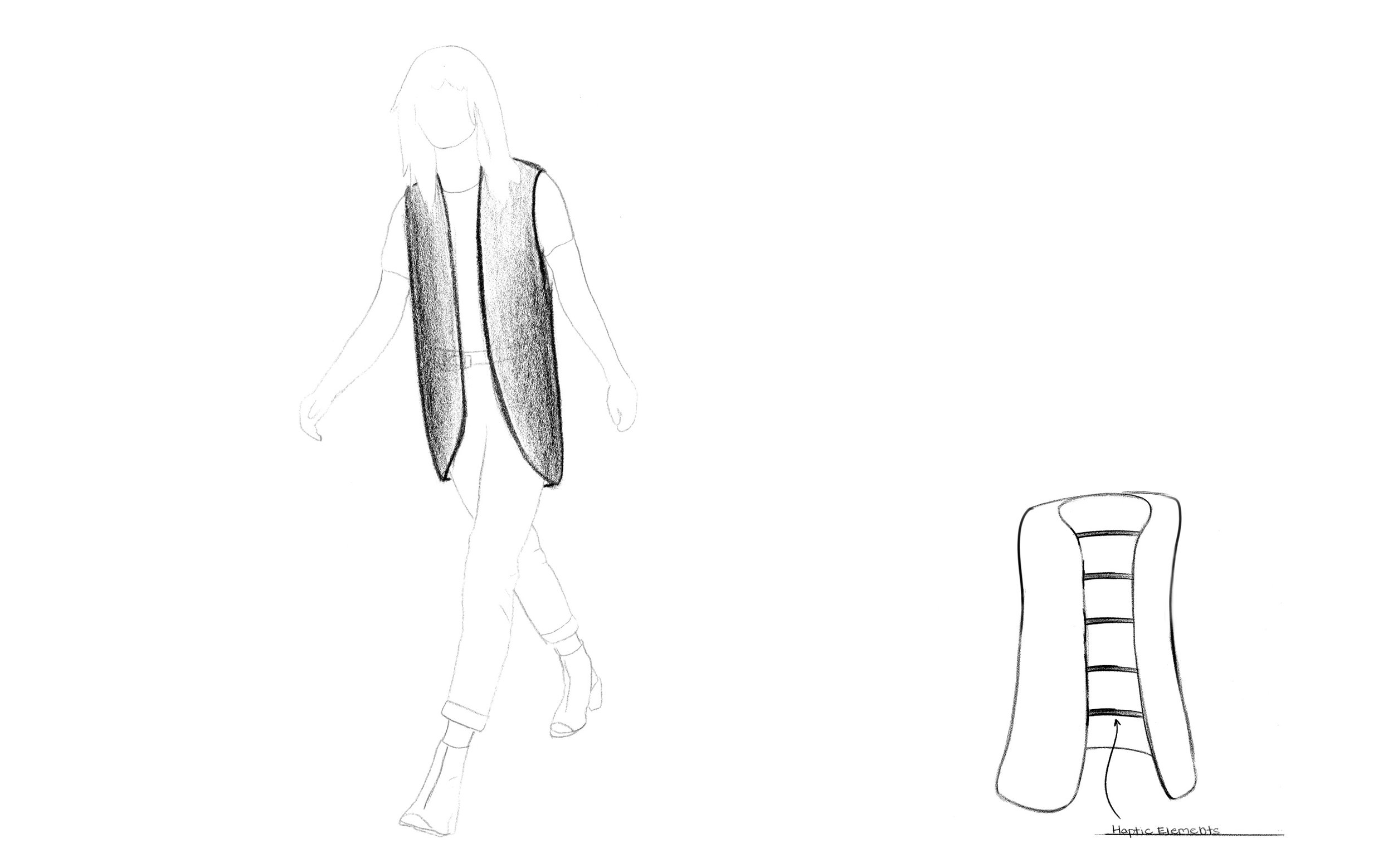 Augmented Touch Concept: Haptic Feedback Vest
