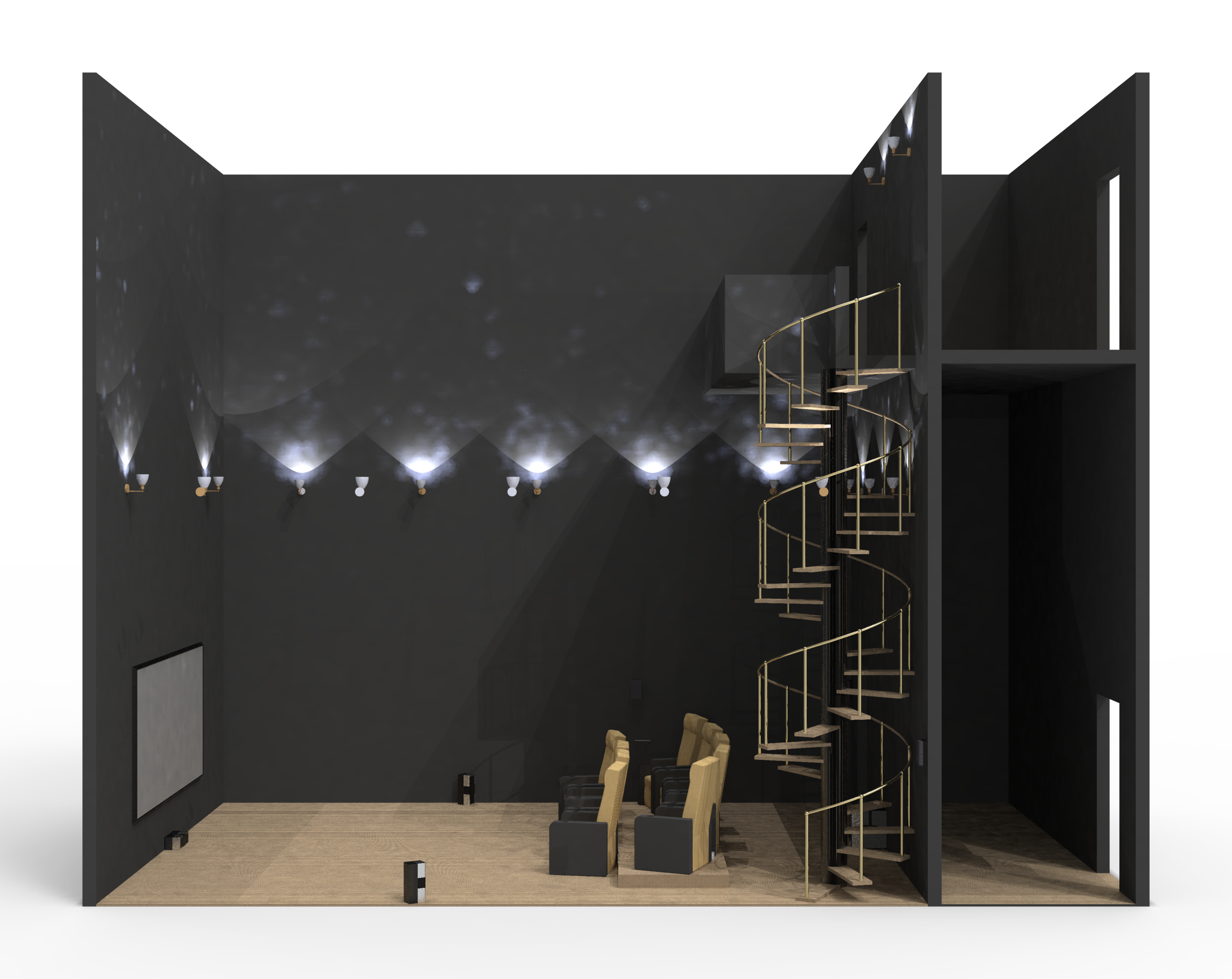 CAD Model: Staircase Wall