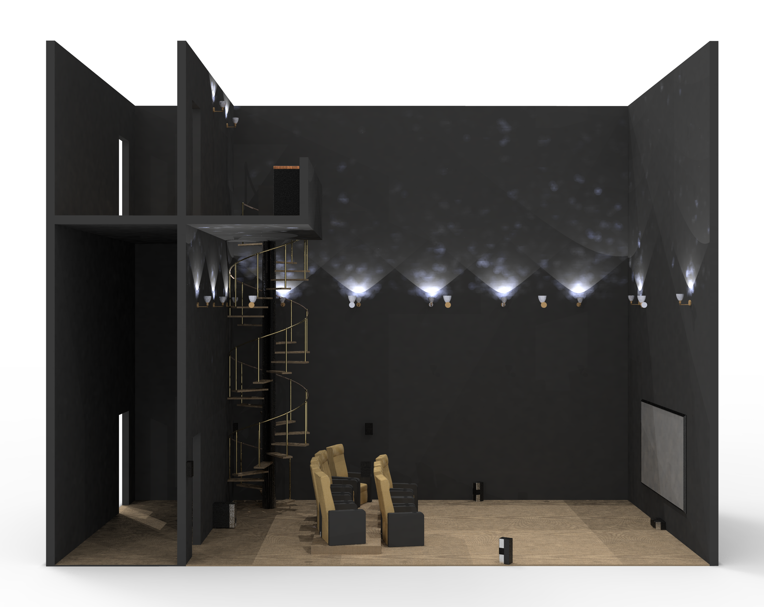 CAD Model: Floor-Level Entry Wall