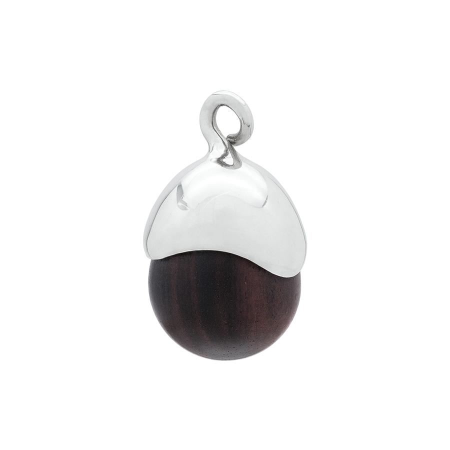 Acorn Pendant in Sterling Silver & Ebony