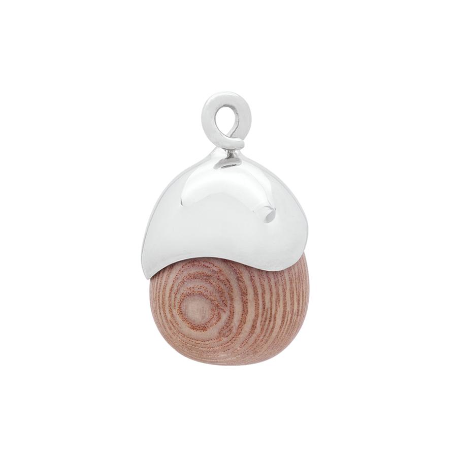 Acorn Pendant in Sterling Silver & Rosewood