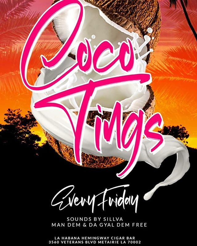 So I'm filling in tonight for the homie who throws this weekly called Coco Tingz  Strictly Afrobeats, Dance Hall, Latin, and throwbacks.  10pm until, no cover, @ La Habana Hemingway Cigar Bar  Come thru if you want something different tonight. Im pretty excited!