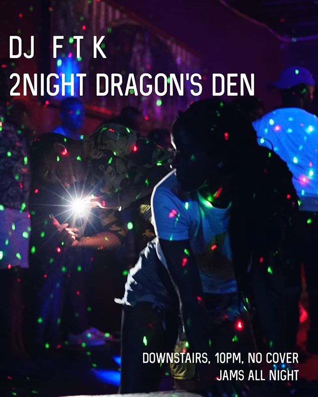 Thank God I'm a DJ and not a graphic designer  Tonight, Dragon's Den (downstairs), 10pm, hella music  With #Primetime running upstairs with @LegatronPrime  PS, I really wanna play some afrohouse and dembow and Baile funk at some point in the night so I hope y'all with the shits
