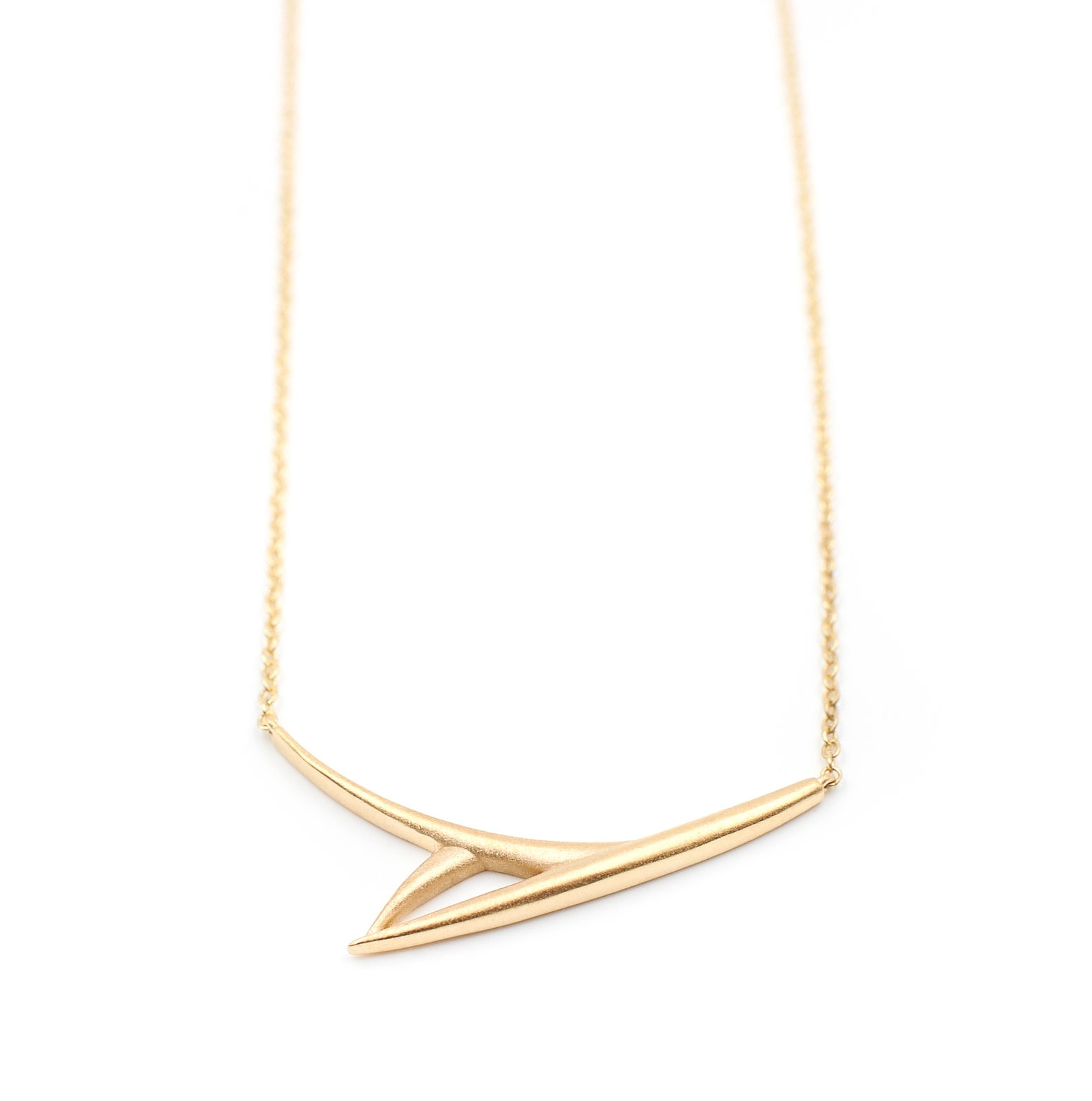 One Leaf Necklace | 18K yellow gold