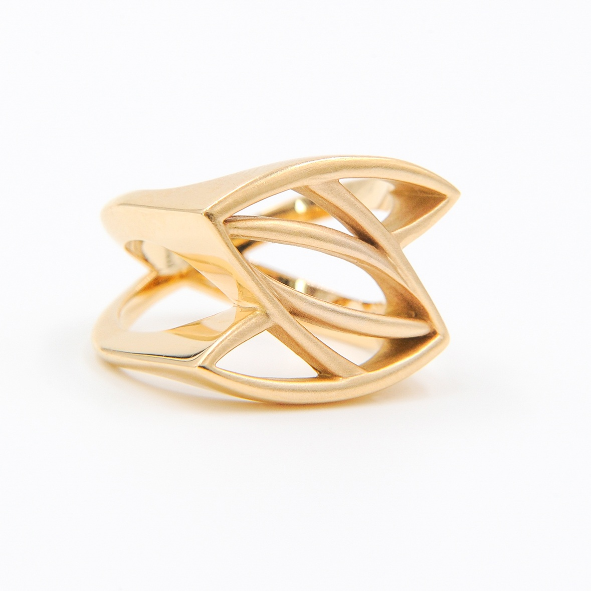 Gold Leaves Ring | 18K yellow gold
