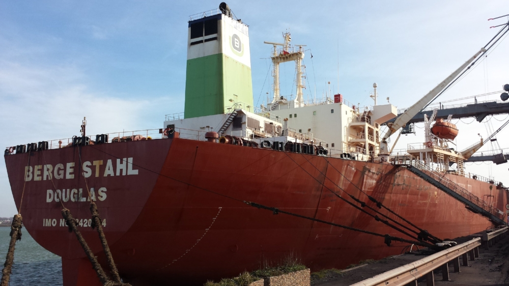 Verdens største tørlastskib BERGE STAHL