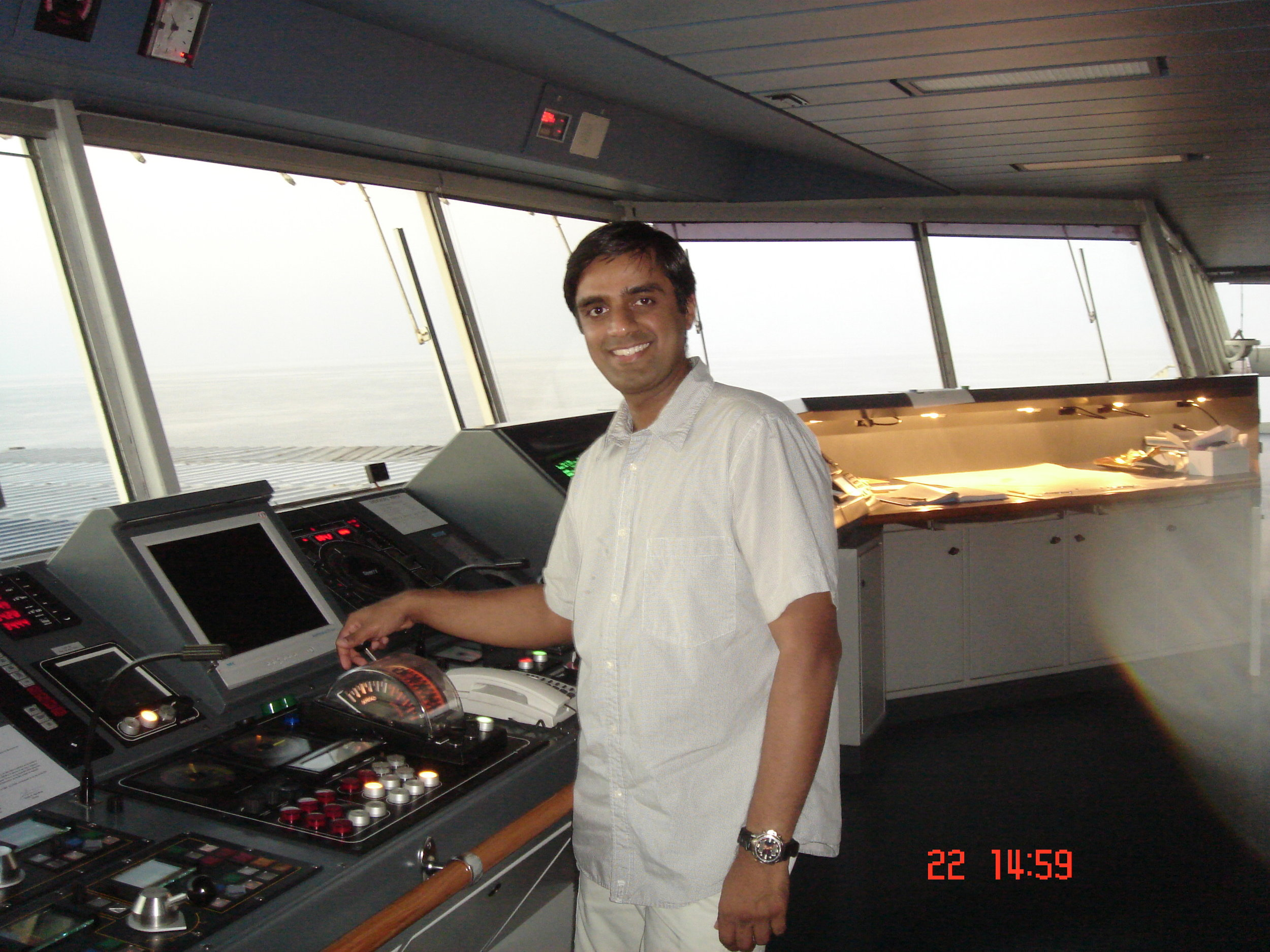 Vivek Menon when has was sailing as junior officer.