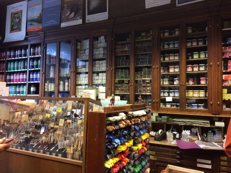 Art shop Sennelier Paris