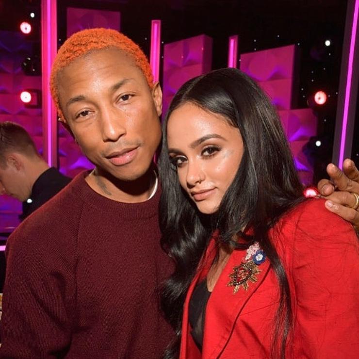 Kehlani posing with Pharrell. Photo courtesy:  @kehlani