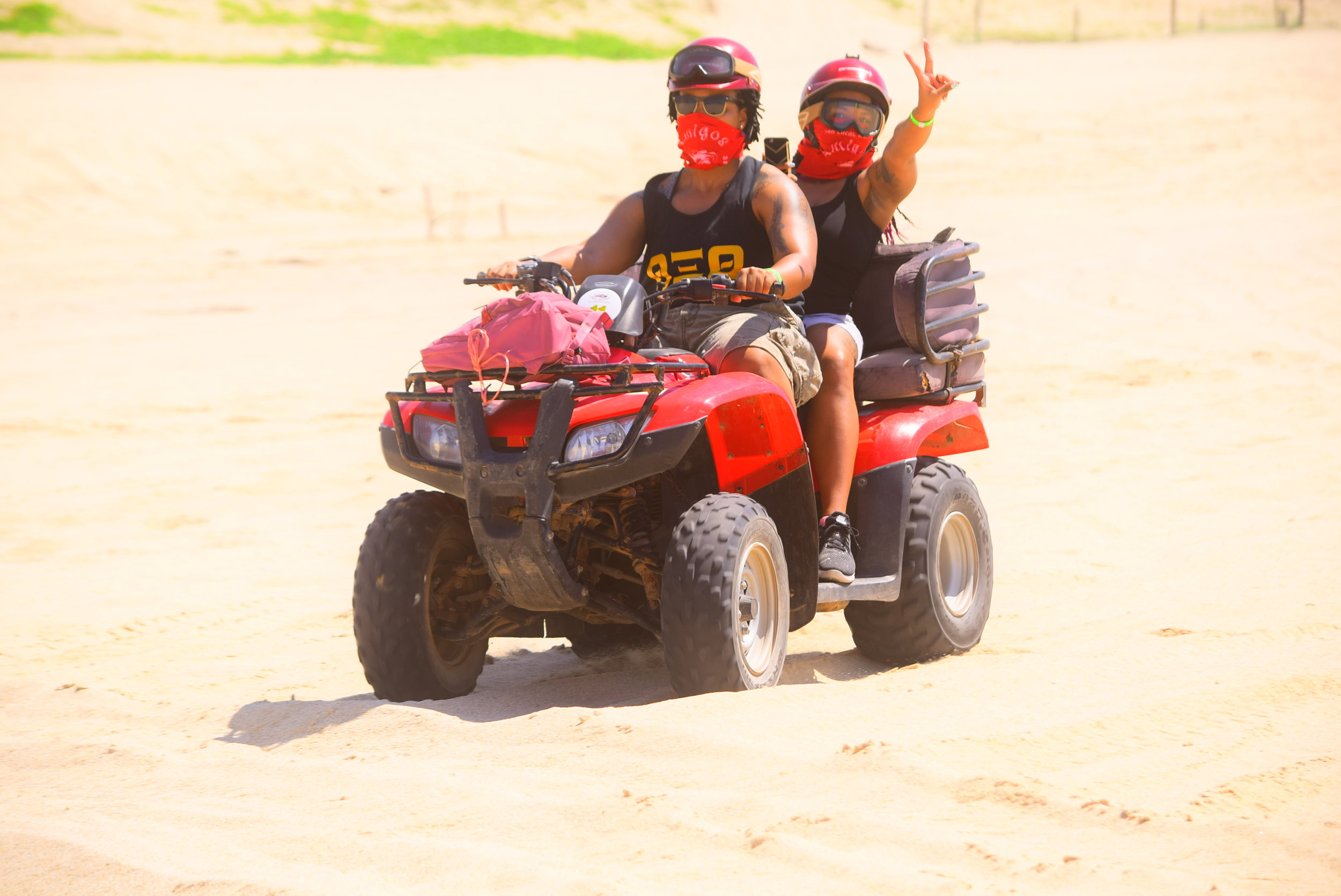 Riding an ATV with my partner. Photo credit:   amigosactivities  .  com