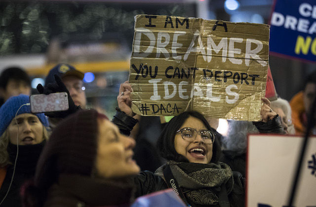 DACA march in New York City, Jan 11 2018 | Photo courtesy of Drew Angerer