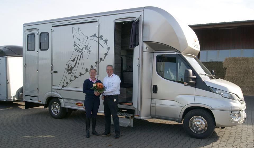 Isabell werth with her Boeckmann Performance Van