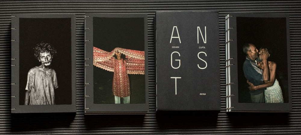 Handmade edition of the photobook,  Angst . Used with permission of the artist.