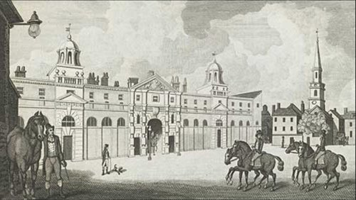 Royal Stables in the Mews Charing Cross, 1793 ©    Royal Collection
